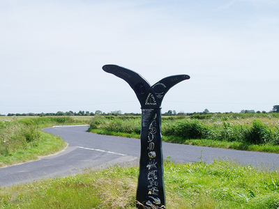 A National Cycle Network Signpost On Romney Marsh