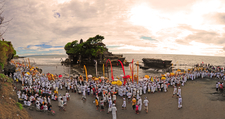 Temple Ceremony At Tanah Lot Temple, Tabanan, Bali, Indonesia