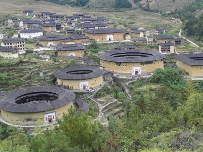 Chuxi Tulou Cluster From Look Out