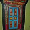 Ghandola Gompa Door
