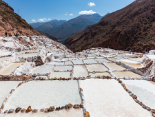 The Salt Evaporation Pond At Maras