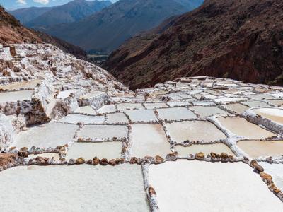 The Salt Evaporation Pond At Maras