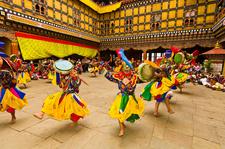 Drum From Dramitse Paro Tsechu Festival Paro Dzong Paro Bhutan