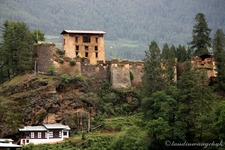Ruins Of Drugyel Dzong In Paro