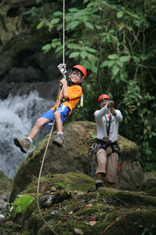 Young Traveller Learning To Rappell