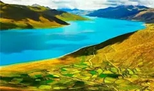 The Yamdrok-tso Lake In Tibet