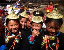 Beautiful Highlander Girls In Bhutan
