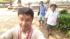 Bunthorn With Guests At Angkor Entrance