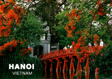 The Huc Bridge Ngoc Son Temple Hoan Kiem Lake Hanoi