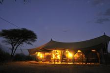 Kwihala Camp Mess Tent Night Lr 2