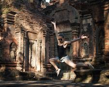 Preah Ko Temple - Flying Anicka