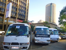 Our Buses At Pick Up Location In Nairobi