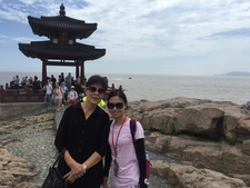 Enjoying The Ocean At Mount Putuo