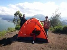 Batur Caldera Over The Caldera Rim Camping