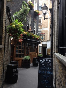 Alleyway Leading To A Pub Built In 1750