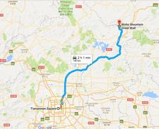 Beijing Gubeikou Great Wall Route Map Wohumountain