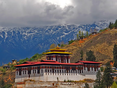 The Dzong In The Paro Valley, Built In 1646.