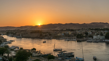 Aswan At Sunset