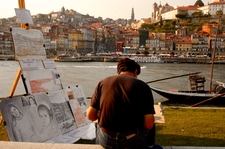 Artist By Douro River