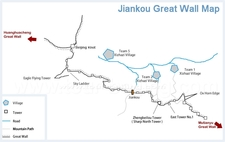 Jiankou Great Wall Map1