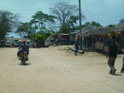 Downtown In Shimoni On A Bright Saturday Afternoon