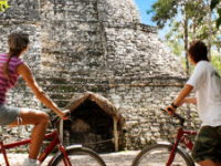Biking At Ancient Mayan City Coba 400x250