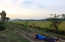 Dutch Tourist Taking Photo Of Kedawung Sugar Mill Field Lines