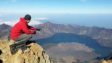 Top Mount Rinjani 3726 Meters