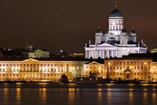 Helsinki Harbor At Night Finland