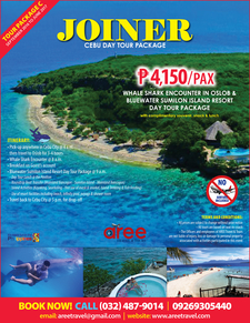 Joiner Cebu Day Tour Package For Sept2016 To June20173