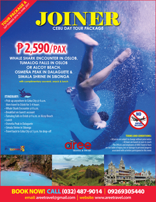 Joiner Cebu Day Tour Package For Sept2016 To June2017