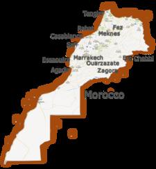 Map Morocco Basis Goedemaat