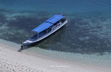 Tourist Boat In Rutong Beach Riung Marine Park