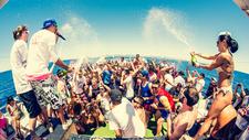 Copia De Oceanbeat Ibiza Boat Party 2015 Champagne Shower Biggest Crazy