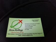 Neon Holidays Visiting Card