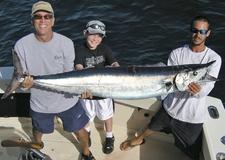 4 Old Hat Fishing Charters 64lb Wahoo 11yr Old Angler