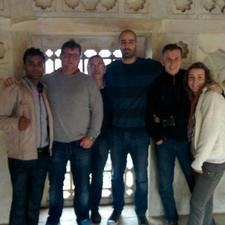 A Group At Taj Mahal