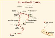 Trek Ghorepani Poon Hill Map