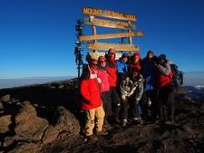 Kristof Family At Mt Kilimanjaro Summit Uhuru Peak