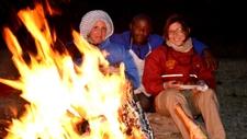 Camp Fire On Safari