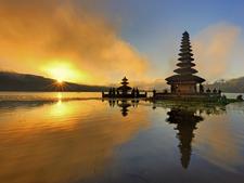 Bali Temple On Beach