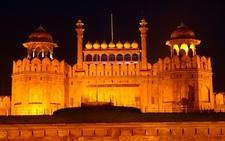 Laal Quila In Delhi Night