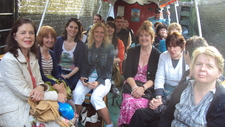 Group On Canal Boat Trip