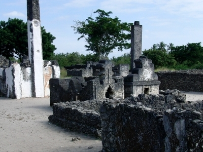Kaole Ruins Including Remains Of An Old Mosque And Some Graves