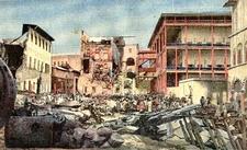 The Damaged ZanzibarSeafront After The Anglo-Zanzibar War