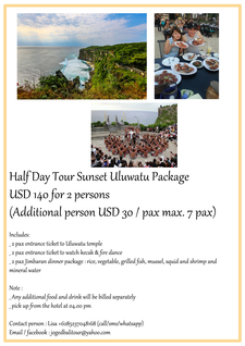 Half Day Tour Uluwatu