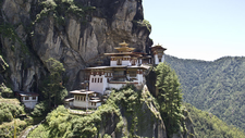Paro Taktsang (Tiger's Nest) Built In 1694 AD On The Face Of The 800m Rock Cliff, Western Bhutan.
