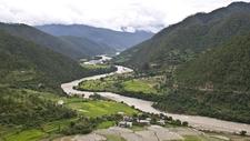 Punakha Valley Western Bhutan.