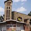 Genocide Memorial Church With Never Again Display
