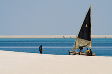 Dhow And Fishermen On Magaruque Island